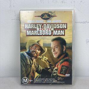 HARLEY DAVIDSON AND THE MARLBORO MAN (1991) VGC R4 DVD Mickey Rourke Don Johnson
