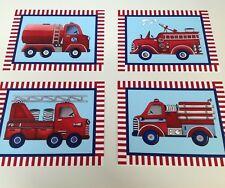 vintage firetrucks nursery wall art prints fire trucks bedding decor picture 4