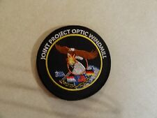 MILITARY PATCH JOINT OPTIC WINDMILL LARGE ROUND 4 INCHES HOOK AND LOOP BACK