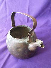 Antique Copper Kettle Plant Pot. No Lid. Upcycled Planter. Watering Can