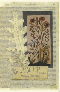 "We Shall ""Rise Up"" Primitive Wool Applique Pattern By Maggie Bonanomi May 2020"