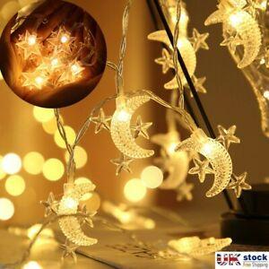 LED Ramadan and Eid Decor Fairy Lights Muslim Islamic Lantern Moon String Light