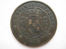 Spain 1875 Charles VII 5 Centimos, NVF.