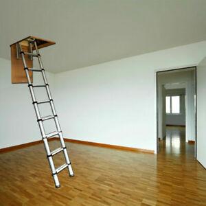 Youngman 2.6m Aluminium Telescopic Attic Loft Ladder