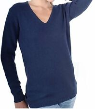 Balldiri 100% Cashmere Kaschmir Damen V Pullover 6-fädig nachtblau XXL