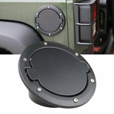 Fuel Filler Door Cover Gas Tank Cap for 07-2016 Jeep Wrangler JK Black TI