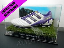 ✺Signed✺ AARON SANDILANDS Boot PROOF COA Fremantle Dockers 2017 Guernsey