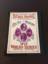 Boston Red Sox vs Philadelphia Phillies 1915 World Series program baseball card