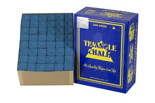 BLUE Pool Cue Billiards Chalk, Triangle Brand, 1 GROSS (144 cubes) - Blue Color