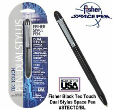 Fisher Space Pen #STECTD/ B - Black Anodized Tec Touch Pen With Dual Stylus
