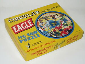 Dan Dare Eagle Circular Jigsaw 452 Puzzle Waddingtons Rare COMPLETE excellent
