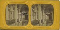 Francia Parigi Scale D'Onore Dei Tuileries Stereo Diorama Vintage Ca 1865