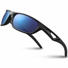 Men's Polarized Sport Sunglasses W/ Unbreakable Frame for Cycling Baseball Black