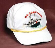 NEW US Coast Guard USCG Cap White Adjustable Hat Military Ship Boat