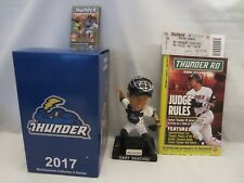 GARY SANCHEZ NEW YORK YANKEES / TRENTON THUNDER SGA BOBBLEHEAD PACKAGE 7/21/17