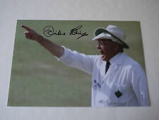 Signed Harold 'Dickie' Bird Cricket Umpire 12x8 Photo - Legend