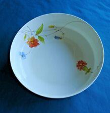 "MIKASA Japan  JUST FLOWERS 9"" Round Vegetable Serving Bowl Bone China Vtg1974-96"