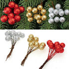 10Pcs/String Glitter Christmas Balls Baubles Xmas Tree Hanging Ornament Decor