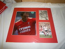 Mounted Steve McMahon Signed Liverpool FC Photo Display