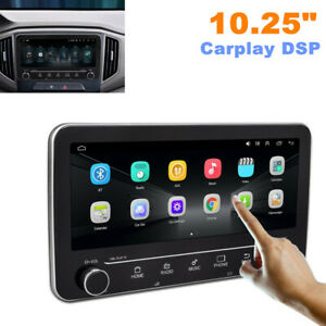 "10.25"" Double Din Car Stereo Radio Bluetooth GPS Navigation Carplay DSP USB MP5"