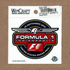 Formula 1 Indianapolis United States Grand Prix, Decal: 28 September 2003, New