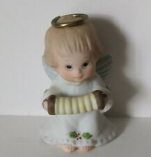 Enesco Angel Ornament Ruth Morehead Holly Babes 1986 Angel Playing Accordion