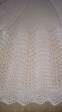 Classic Knitted Circular Baby Shawl. Christening. GIFT. NEW