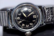 Vintage Rare WWII WW2 Era Elgin AF US Army Type A-II Pilots Wrist Watch - Works!
