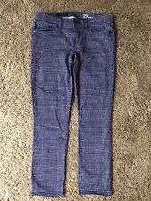 J CREW TOOTHPICK Jean in Basket-Weave Print size 29 ANKLE  02344  ($135) H7