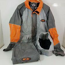 Harley Davidson Men's Rain Gear Riding Suit, Jacket Pants Hood Reflective Size L