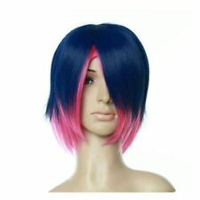 Blue and Pink Short Length Anime Costume Cosplay Wig
