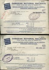 1926 CANADIAN NATIONAL RAILWAYS, 2 x SHARES WARRANTS, TO A. BUCK, ESQ. CARLISLE