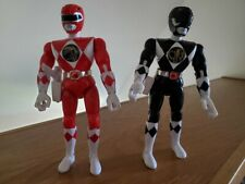 1993 Bandai MMPR Power Rangers Action Figures - Original Red And Black Rangers