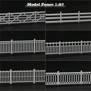 1 Meter Model Railway Diorama White HO Scale Building Fence Wall 1:87