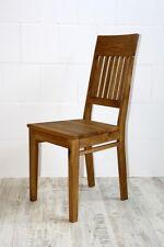 Holzstuhl Stuhl mit Holzsitz Wildeiche massiv geölt Esszimmer-stühle Küchenstuhl