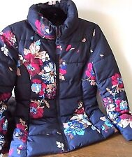 JOULES@HOUSE FRASER /WINTER  COAT/JACKET/SIZE 6/NAVY BLUE/PINK/PADDED/ WARM COSY