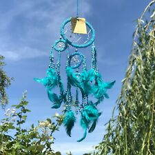 New Turquoise Blue Beaded Dream Catcher Native American Wall Hanging Mobile