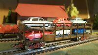 Jouef échelle ho wagon STVA transport de voitures (2)