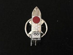 1972 SAPPORO OLYMPIC PIN BADGE JAPANESE PINS
