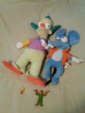 The Simpsons Plush Figurines Krusty Itchy Lisa