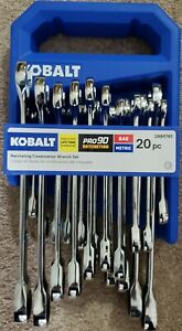 Kobalt 20 Piece Ratcheting Wrench Set SAE/Metric New!