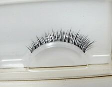 1 Pair Lifelike 3D Handmade Medium Black Natural Short Slender False Eyelashes
