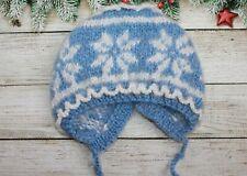 NEW baby hat warm handmade handknitted mohair cap