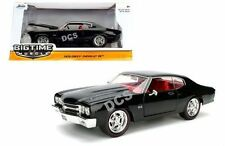 JADA TIME MUSCLE 1970 CHEVROLET CHEVELLE SS BLACK 1/24 DIECAST CAR-97834