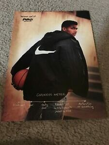Vintage 1990s KENDALL GILL NIKE SWOOSH JACKET Poster Print Ad RARE