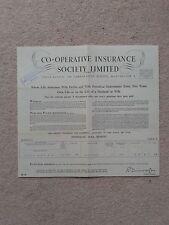 Co-Operative Insurance Co Memrobilia Whole life Assurance/ profits Policy 1960