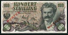 Austria 1960 ( 1961 ), Specimen 100 Schilling, P138s, UNC