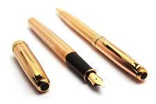 Parker Sonnet Pink Gold Fountain Pen & BallPoint Pen Set 18K Gold Plated Nib New