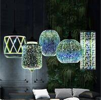 3D LED Ceiling Lamp Chandelier Glass Fireworks Pendant Light  Shade
