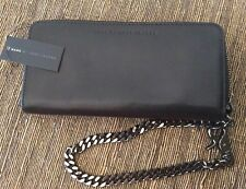 Authentic MARC JACOBS Black  Leather Zip around Wallet/Wristlet, BNWT